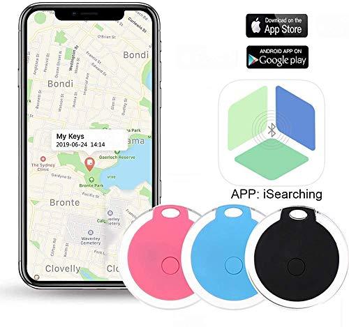 Key Finder, Afaneep Buscador de Llaves con App, Control de Cámara del Teléfono y Función de Grabación y Recordatorio de Alarma Anti-Pérdida 1 Paquete -Rosado
