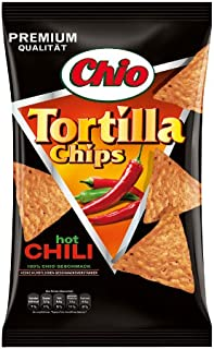 Chio Tortilla Chips Hot Chili, 3er Pack 3 x 125 g