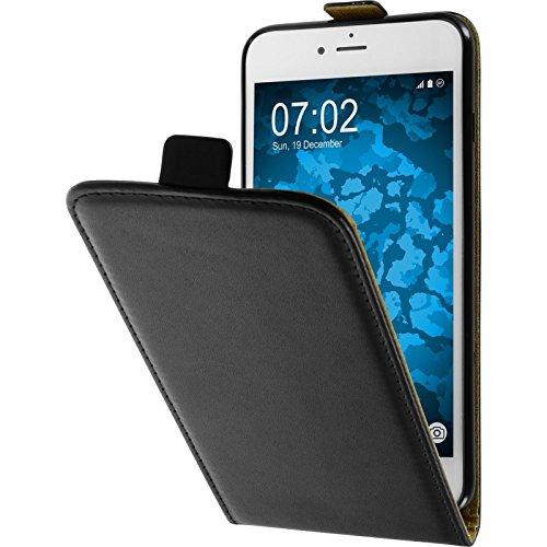PhoneNatic Copertura di Cuoio Artificiale Compatibile con Apple iPhone 7 Plus / 8 Plus - Flip-Case Nero - Cover + Pellicola Protettiva
