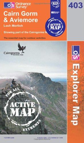 OS Explorer map 403 : Cairn Gorm & Aviemore