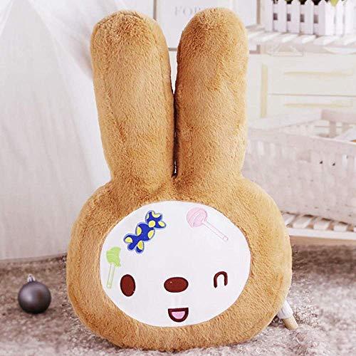 Sylbf Plüschtier Neugeborenes Baby-Kissen-Raum-Dekoration Kaninchen-Plüsch-Spielzeug-Baby-Kind-Häschen-Baby-Bettwäsche-Spielzeug-Puppe Jungen-Geschenk-Baby-Raum-Geburtstags-C_40cm