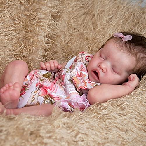 LXTIN Juego de muñecas y Ropa para bebés recién Nacidos Reborn de 18 Pulgadas, muñecas de Silicona realistas Lavables con Ropa de Mono Lindo, niños y niñas