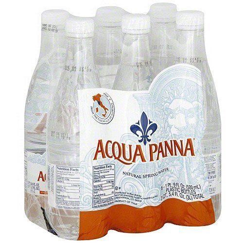 Acqua Panna Natural Spring Water 500ml (16.9oz) Plastic Bottles (Pack of 6) by Acqua Panna
