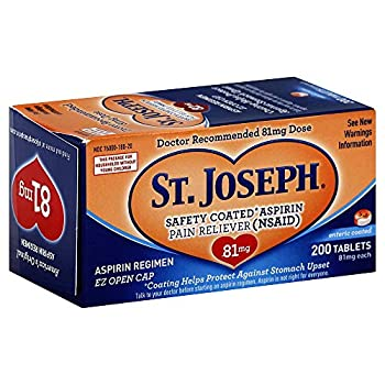 St Joseph Pain Reliever 81 mg Enteric Coated Tablets 200 ct.