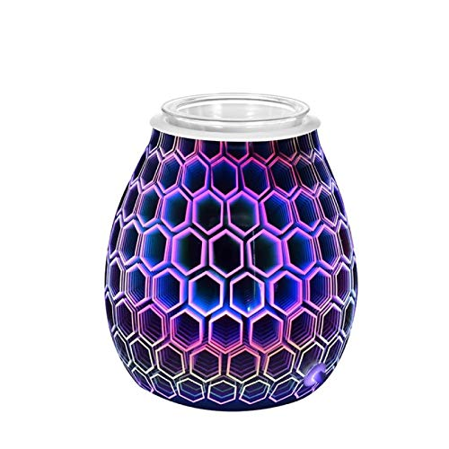 GXFCQKDSZX Aroma Diffuser With Night Light 3D Color Wax Melter For Bedroom Decoration Gifts