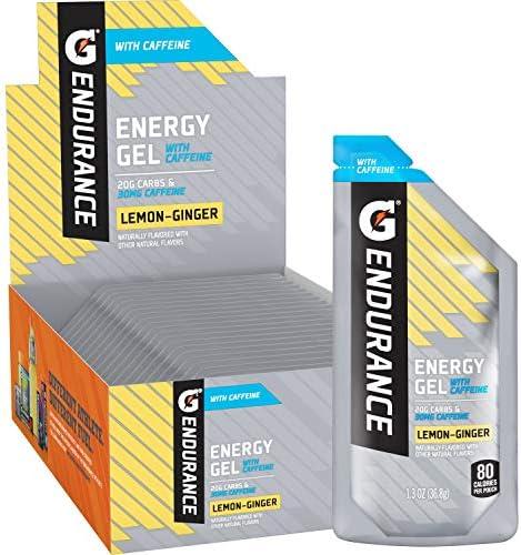 Gatorade Endurance Energy Gel with Caffeine Lemon Ginger 1 3oz Pouches Pack of 21 product image