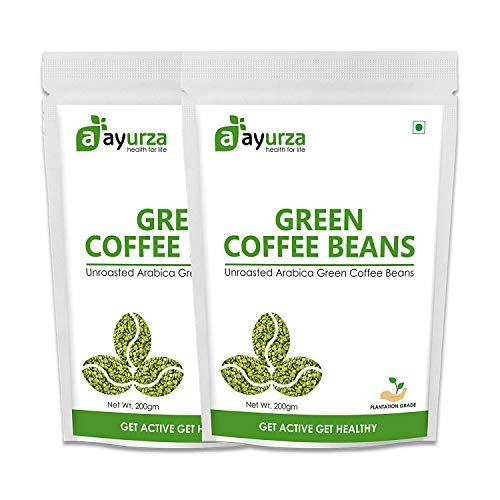 Aayurza Green Coffee beans for weight loss. 400Gram. Organic Arabica Green Coffee beans.