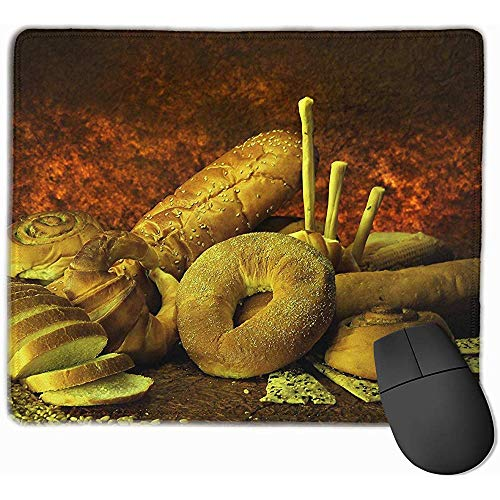 Schreibtischunterlage,Brot-Schnitt-Druck-Spiel-Mausunterlage Präzises Modernes Spiel Mousepad 18Cmx22Cm