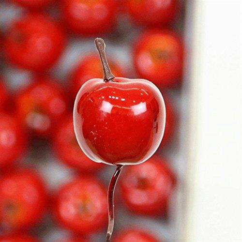Pomme Vernis, avec fil rouge, 36 pièces Boîte, diamètre : 25 mm
