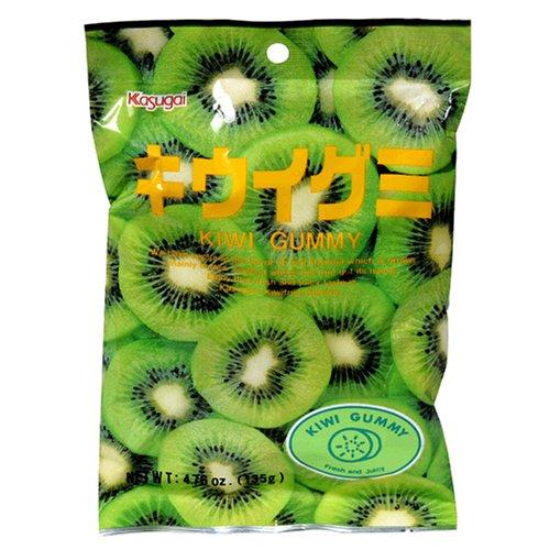 Kasugai Japanese Gummy Candy, Kiwi Flavor, 4.76-Ounce Bags (Pack of 12)