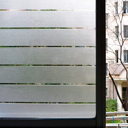 LMKJ Película de Vidrio de Ventana de privacidad de preservación estática, Etiqueta Adhesiva de Ventana esmerilada 3D, Utilizada para Oficina y Oficina, Raya ciega A95 45x100cm