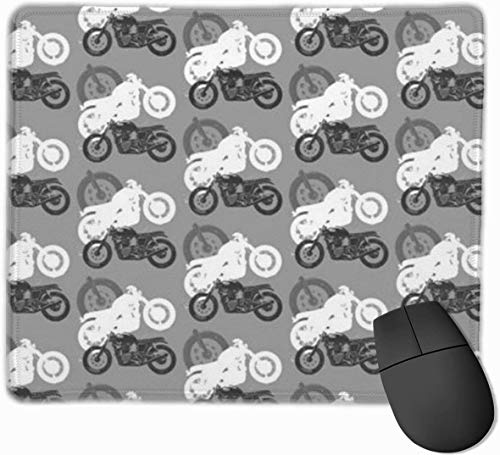 Motorcycles Moto Madness Mouse Pad with Non-Slip Rubber Base and Waterproof Mousepad with Stitched Edges Mouse Pads for Computers Laptop Gaming Office & Home 11.8 X 9.8 in,3mm