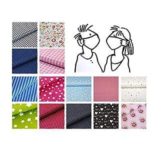 Alltags-Maske; Behelfs-Mundschutz – Damen; Herren – Design Muster Motive 100% Baumwolle Waschbar Handgenäht