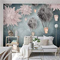 カスタム壁壁画壁紙家の装飾北欧花3Dリビングルーム子供部屋女の子寝室壁紙壁画-200x140cm
