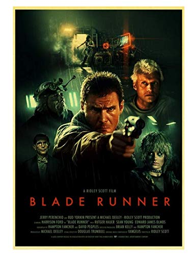 H/P Movie Blade Runner 2049 Retro Poster Wall Stickers Living Room Home Decoration Painting Frameless 50X70Cm W2254