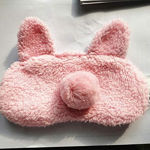 ARR slaap oog masker cartoon konijn pluche bal oog dekking kinderen slapen masker reizen rust oog schaduw oogpartij blinddoek