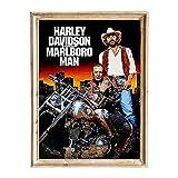 FANART369 Harley Davidson and the Marlboro Man Poster A3