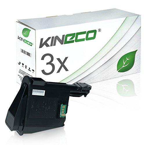 3 Toner kompatibel zu TK-1115 für Kyocera Ecosys FS-1041, FS-1220MFP, FS-1320MFP - 1T02M50NL0 - Schwarz je 1.600 Seiten
