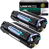 LINKYO Compatible Toner Cartridge Replacement for Canon 106 0264B001AA (Black, 2-Pack)