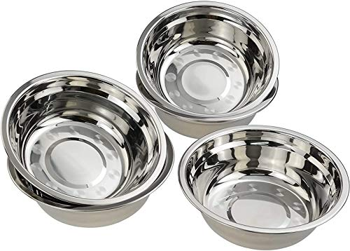 FUROO Stainless Steel Mixing Bowl, Salad Bowl, Metal Prep Bowls, Set of 10