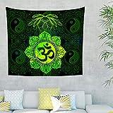 WellWellWellWell - Tapiz de pared 3D, budista de loto y paños de pared, decoración...