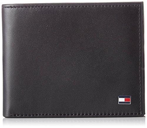 Tommy Hilfiger Ho Eton Mini Cc Wallet Keyfob Box - Portafogli Uomo, Noir (Black), 2x13x20 cm (W x H L)