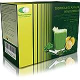 Clorofila de Alfalfa con Clorella 30 sobres. Complemento alimenticio a base de Alfalfa, Bioflavonoides de cítricos, alga Chlorella y Vitamina C. Contiene edulcorante (Glucósidos de esteviol)