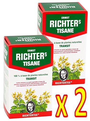 Lot de 2 boîtes de Tisane infusion Ernst Richter 40g - 100% à base de plantes naturelles - 2 x 20 sachets filtres de 2g