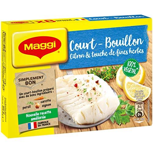 Maggi Court Bouillon Citron et Fines Herbes 8 tablettes, 90g