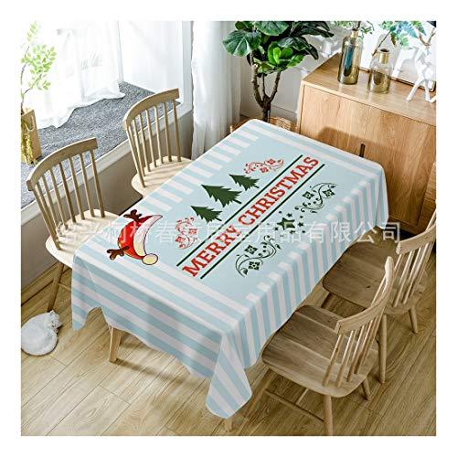 ZHAOXIANGXIANG Nappe De Noël Imprimé Numérique Polyester Tapis De Table Antifouling Imperméable À L'Élégant Décor Création Joyeux Noël Pattern,60X60Cm