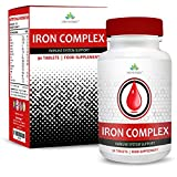 Iron Supplement - The Recommended Daily Allowance - Suitable for Vegetarians - 90 Tablets (3 Month Supply) by Earths Design by Earths Design
