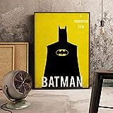 XWArtpic Klassische Superheld Film Supermacht Retro Poster Bild Cartoon Kindergarten Kinderzimmer wandkunst Wohnkultur leinwand malerei 50 * 70cm H