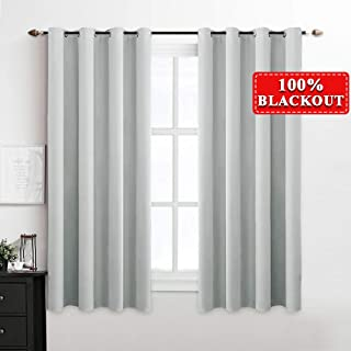 blackout curtain grey