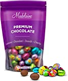 Madelaine Chocolates Easter Eggs (1 LB) Easter Candy Solid Premium Milk Chocolate Eggs Foiled In A Variety Of Solid and Floral Colors - Traditional Easter Basket Mainstays (1 LB)