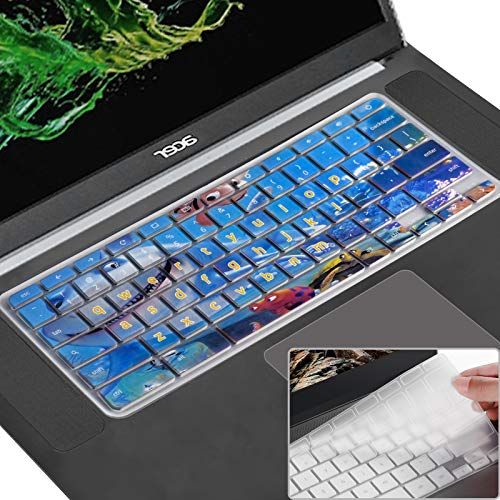 Lapogy Keyboard Cover Skin for acer chromebook Spin 11 cp311,R11 11.6 inch CB3-131/132,CB5-132T,CB3-131,R13 Keyboard protector accessories,CB5-312T/571,Chromebook 15,CB3-531/532 C910(Underwater World)