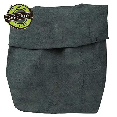 papyrMAXX wasmand Stuff - duurzaam XXXL oprolbare mand van wasbaar papier 0,55 cm dik I 35x30x62 cm opslagmand voor bad - en kinderkamer etc. I cadeauzak planten anthraciet