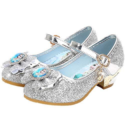 New front Chica Zapatos de Princesa Bailarina Niña Disfraz Elsa Zapatos Reina...