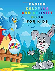 Easter books, easter coloring and activity book for kids