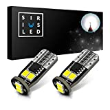 2012 Ford Fusion License Plate Light Bulbs - SIRIUSLED N6 194 Extremely Bright 3030 Chipset LED Bulbs for Car Interior Lights License Plate Dome Map Side Marker Door Courtesy Wedge 6000K Xenon White 168 175 174 2825 T10 192 Pack of 2