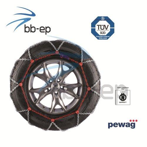 pewag Totalmente automática abspanende Cadena de Nieve snox SUV 4x 4, SUV 's y Transporter con el tamaño de neumático–31x 10,50R15–Certificación TÜV & ö de Norma V 5117