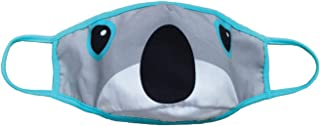 iscream Child's Fun Faces Reversible Double Layer Face Cover with Pocket