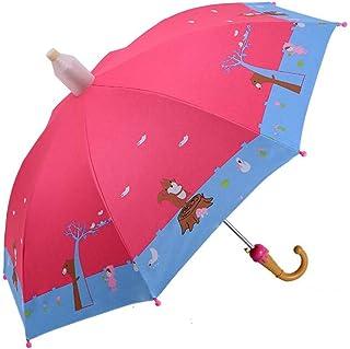 FollowDream 子供傘 女の子 男の子 キッズ傘 70cm 90cm ジャンプ傘 長傘 伸縮スライドカバー付き 子供用 ワンタッチ 手開き グラスファイバー 8本骨 動物柄 雨傘 雨具 耐風 軽量 丈夫 可愛い 小学生 ジュニア 通園 通学