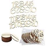 ANCLLO Número de mesa de madera 1 – 20 con base para decoración de boda y mesa de boda