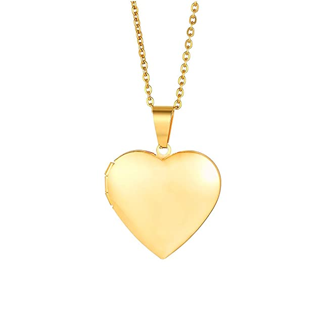 Yellow Chimes Openable Heart Photo Frame Locket Gift