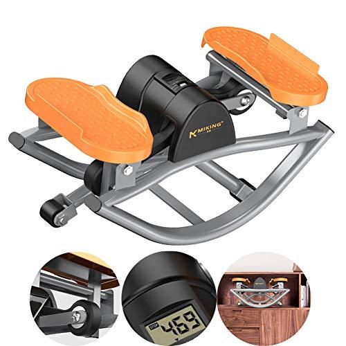 Multi-Función Nuevo Equipo Premium Silent Hiking Pedal Machine Equipo De La Aptitud para Office Hogar Gimnasio Sport Indoor, Contar Inteligente