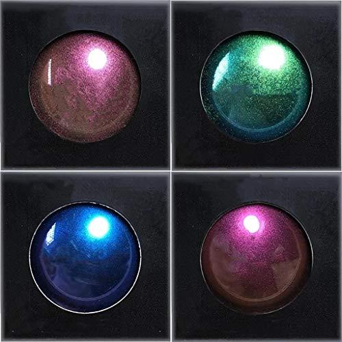 Glücklich Tragbar 4 Farben Lichtwechsel Lidschatten-Set, Frauen Optik Chameleon Multi-Chrome...