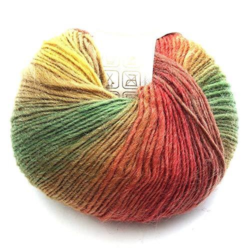 YOUTHLIKEWATER 50g nieuwe dikke baby wollen bal regenboog kleurrijke breien haak garen ambacht voor het naaien DIY doek accessoires