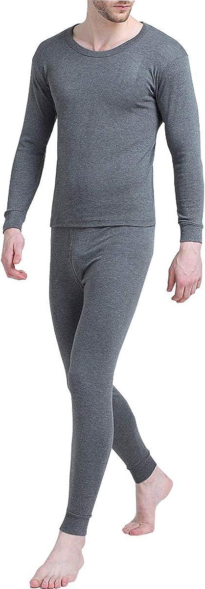 Jenkoon Mens Ultra Soft Thermal Base Top & Bottom Underwear Long Johns Set