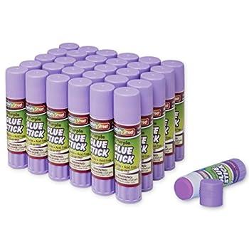 Creativity Street Washable 0.28-Ounce Glue Sticks 30-Piece Pack Purple  AC3384-30