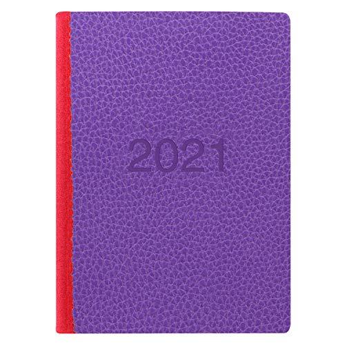 Letts - Agenda 2021 a due tonalità, formato A6, con appuntamenti, colore: Viola